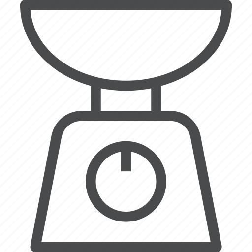 cooking, food, kitchen, scale, weight icon