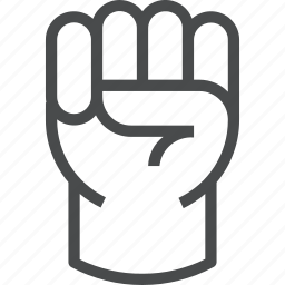 fight, fist, freedom, power, protest, standup, strike icon