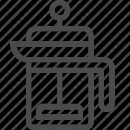 beverage, coffee, french, press, tea icon