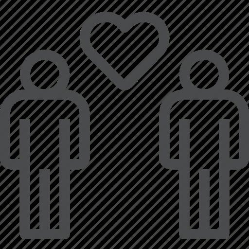 couple, gay, man, pride, relationship icon