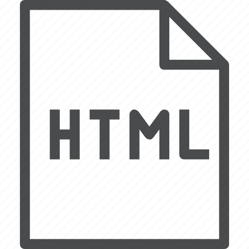 document, documents, extension, file, html icon