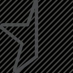 favorite, half, rating, star icon