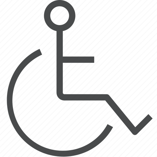disability, disabled, handicap, medical, symbol, wheelchair icon