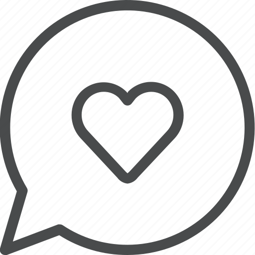 chat, heart, love, message, romance, sext, text icon