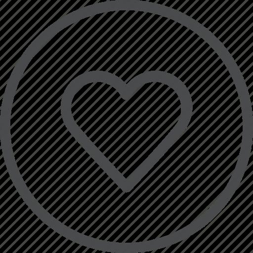 circle, favorite, heart, like, love, valentine, wedding icon