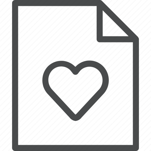 document, favorite, file, heart, save icon