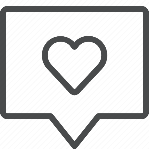 chat, communication, heart, love, message, sext, text icon