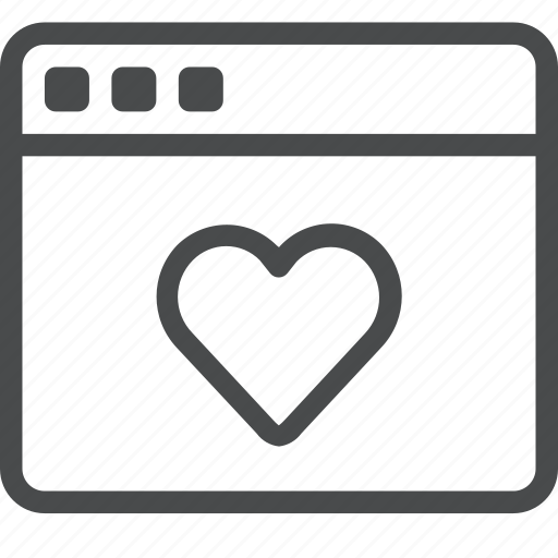 favorite, heart, love, save, webpage, website icon
