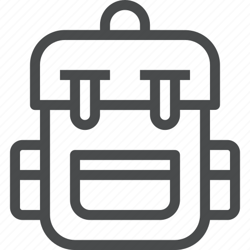 backpack, bag, camping, hiking, outdoors, tourism, travel icon