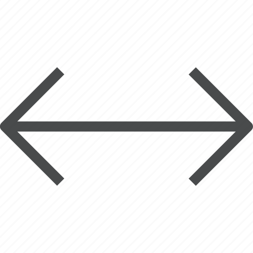 arrows, direction, horizontal, navigation, wide, width icon