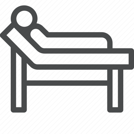bed, emergency, healthcare, hospital, medical icon