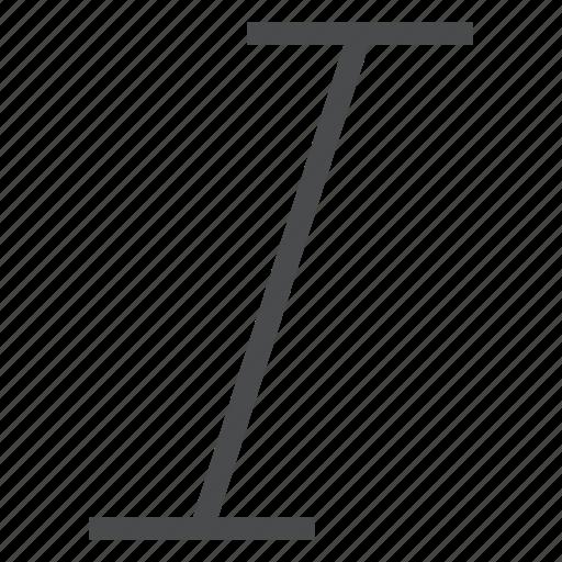 format, italic, text, type icon