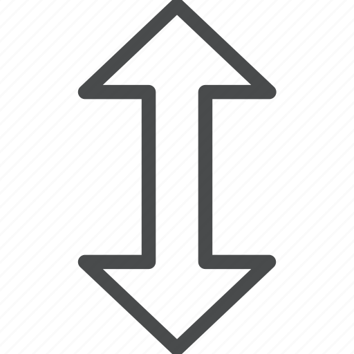 arrows, down, height, large, up, vertical icon