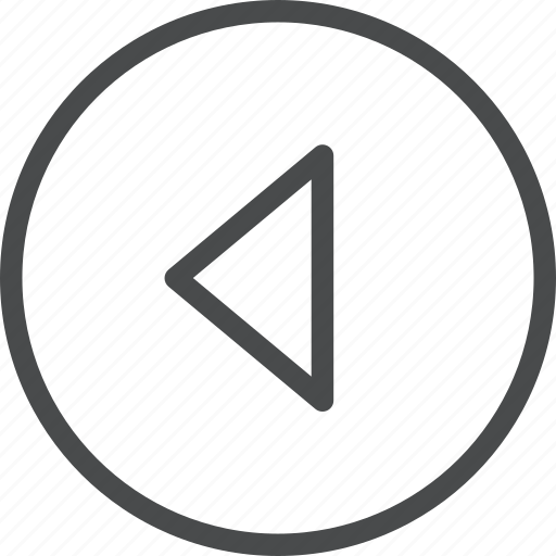 back, carrot, circle, left, previous icon