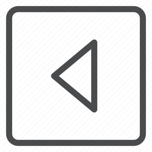 back, carrot, left, previous, square icon