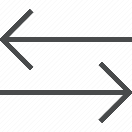 arrows, direction, horizontal, left, navigation, right, swap icon