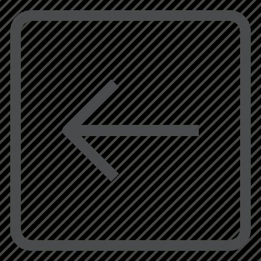 back, left, previous, square icon