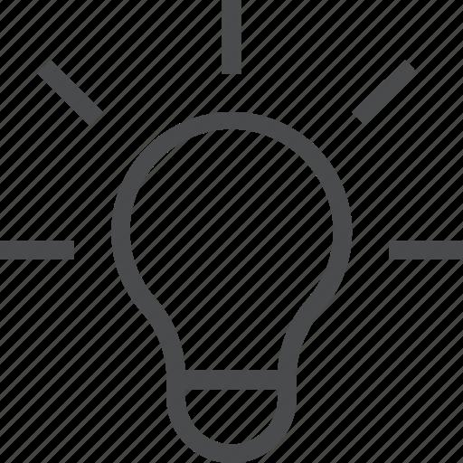 creative, creativity, idea, innovation, lightbulb, thinking icon