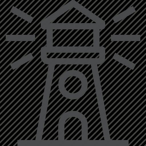 beacon, compass, guide, lighthouse, nautical, navigation icon