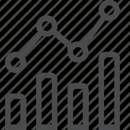 analytics, data, graph, infographic, line, report, statistics icon