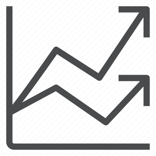 analytics, diagram, graph, growth, line, statistics icon