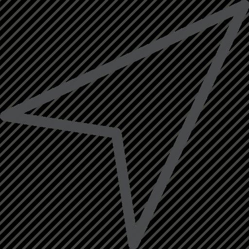 arrow, direction, gps, location, navigation, pin icon