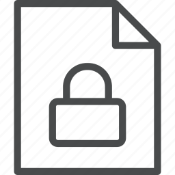 document, lock, protection, secure, security icon