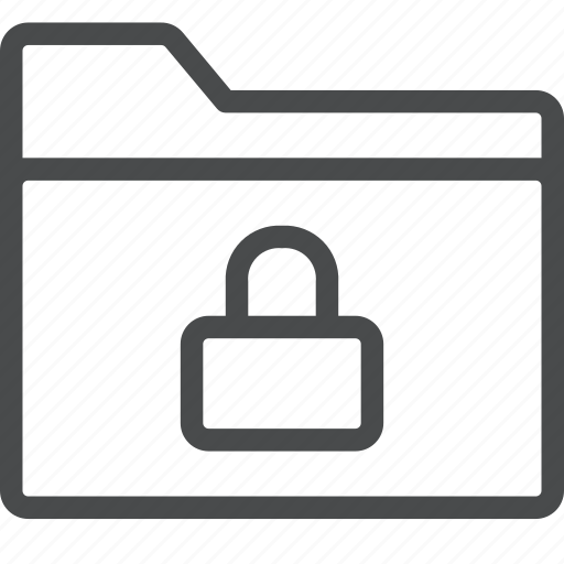 folder, lock, protection, secure, security icon