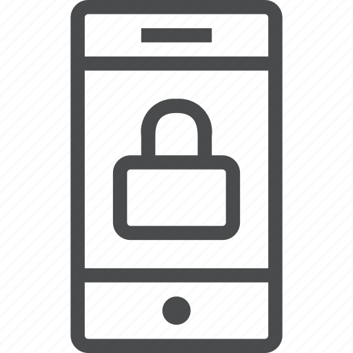 lock, password, phone, protection, secure, security, smartphone icon