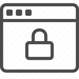 lock, protect, protection, secure, security, webpage, website icon