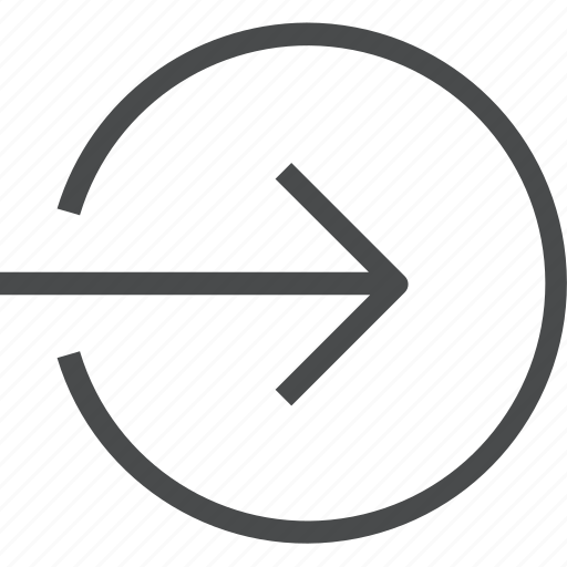 import, login, move, right, shift icon