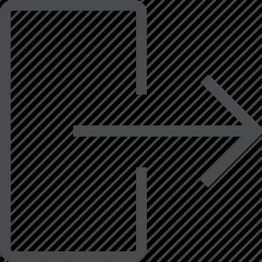 escape, exit, logout, more, right icon
