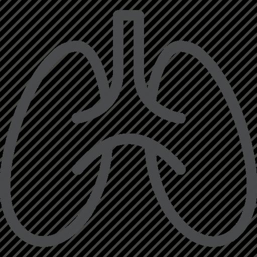 anatomy, body, lungs, medical, organ, pulmonology icon