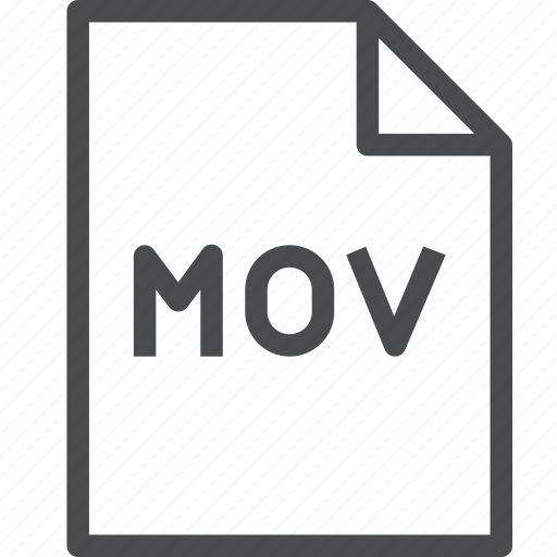 extension, file, mov, video icon
