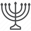hanukkah, jew, jewish, judaism, menorah, religion, worship icon