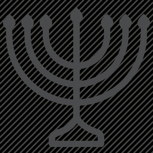 hanukkah, jew, jewish, judaism, menorah, religion, worship icon