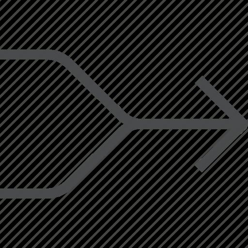 arrow, arrows, combine, direction, merge icon