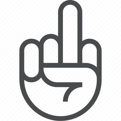 f you, finger, flick, gesture, hand, middle, off icon
