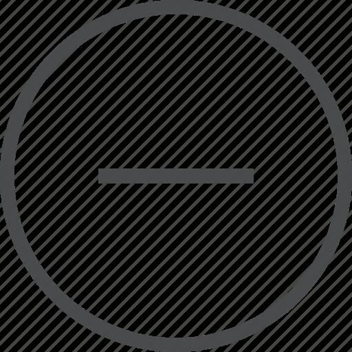 Circle, minus, delete, remove icon - Download on Iconfinder