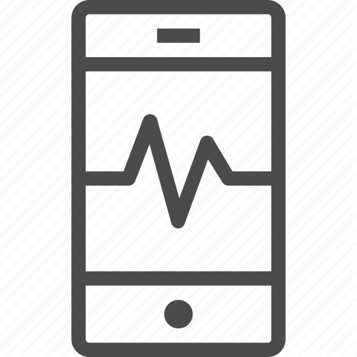 activity, data, mobile, monitor, siri, smartphone, technology icon