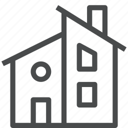 architecture, building, estate, home, house, mid century, modern, property icon