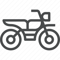 bike, cycle, motorbike, motorcycle, scooter, transportation, travel icon