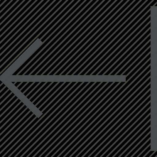 arrow, back, left, move, shift icon