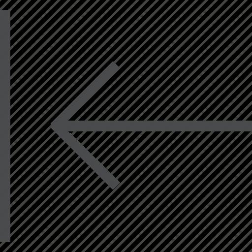 back, left, move, previous icon