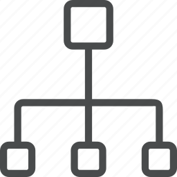 connection, connectivity, hierarchy, modem, network icon
