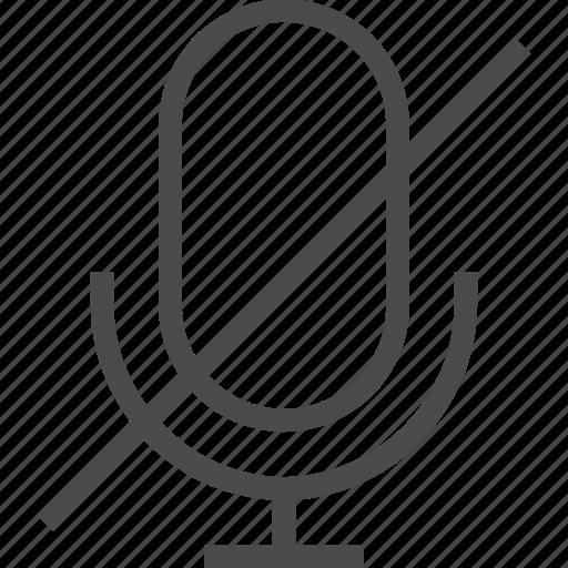audio, mic, no, record, recording, sound icon