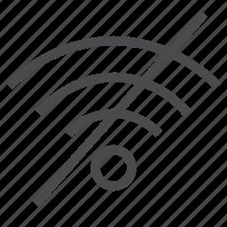 internet, no, signal, wifi, wireless icon