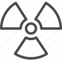 danger, hazard, nuclear, warning, waste icon