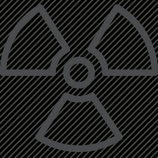 danger, hazard, nuclear, warning, waste icon