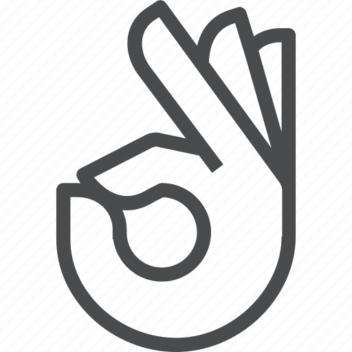 finger, fingers, gesture, hand, ok icon